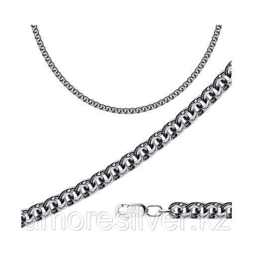 Цепь мужчинам SOKOLOV из черненного серебра, без вставок, бисмарк 998141204 размеры - 60
