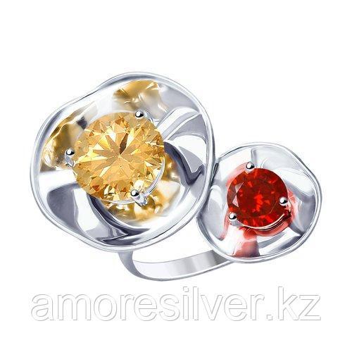 Кольцо SOKOLOV серебро с родием, фианит  8-94010008