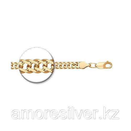 Браслет SOKOLOV серебро с позолотой, без вставок, ромб двойной 985041002 размеры - 18 20 21