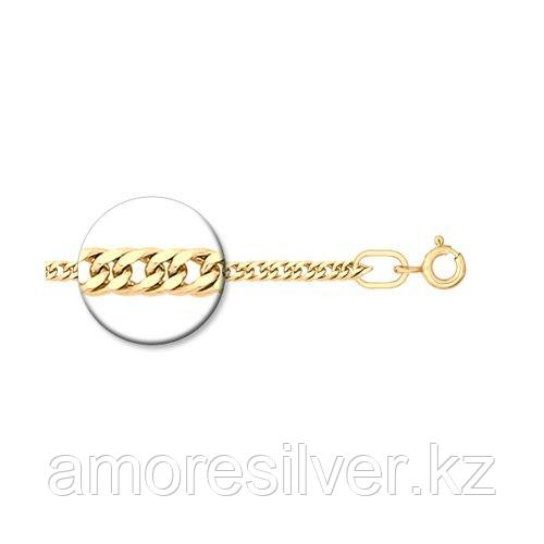 Цепь SOKOLOV серебро с позолотой, без вставок, панцирная 988320402 размеры - 45 50 55