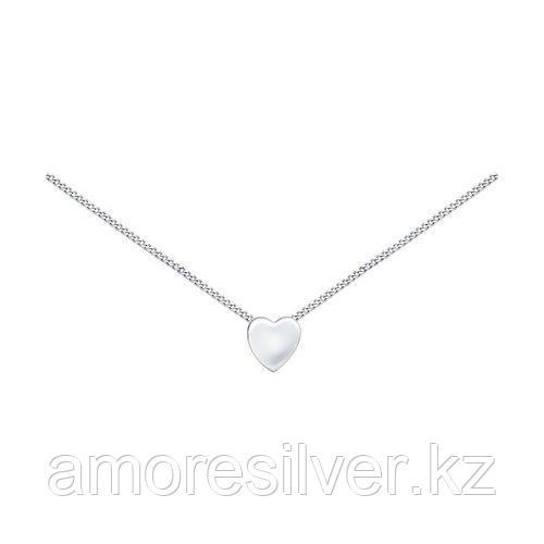 Колье SOKOLOV серебро с родием, без вставок, фантазия 94070060 размеры - 40