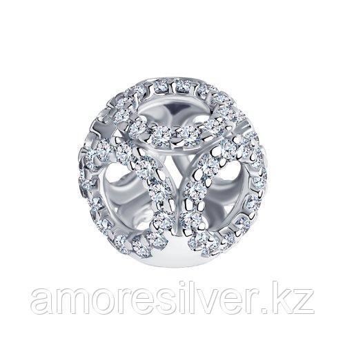Подвеска SOKOLOV серебро с родием, фианит  94030570
