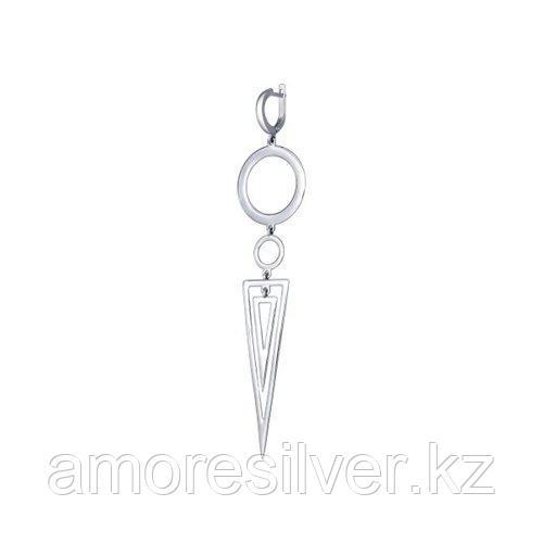 Серьга одиночная SOKOLOV серебро с родием, без вставок 94170056