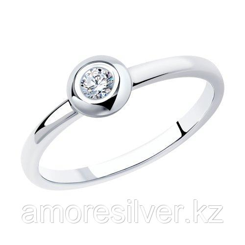 Кольцо SOKOLOV серебро с родием, фианит  94012791