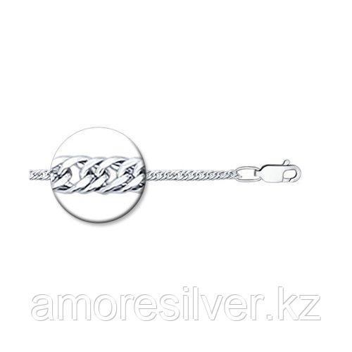 Цепь SOKOLOV серебро с родием, без вставок, панцирная 968320402