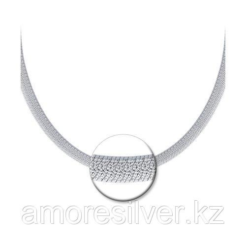 Колье SOKOLOV серебро с родием, без вставок 94074578