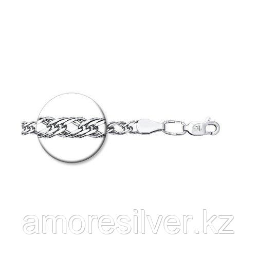 Браслет SOKOLOV серебро с родием, без вставок, ромб тройной 965220402 размеры - 17 18 19