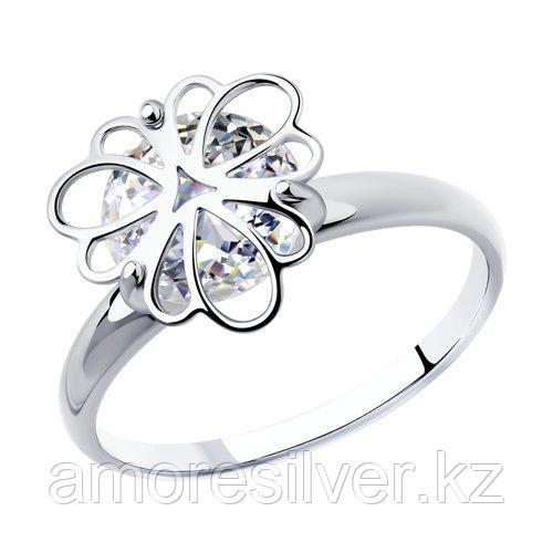 Кольцо SOKOLOV серебро с родием, фианит  94012987