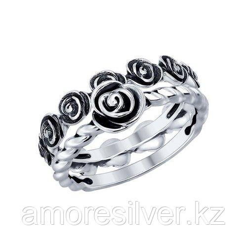 Кольцо SOKOLOV из черненного серебра, без вставок 95010082