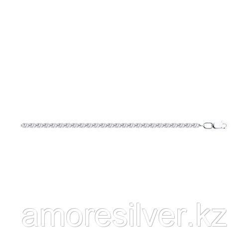 Цепь SOKOLOV серебро с родием, без вставок, тигровый глаз 968480802 размеры - 60