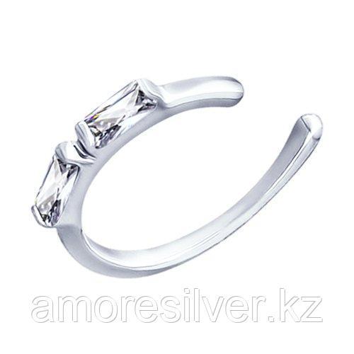 Серьги SOKOLOV серебро с родием, фианит  94170061