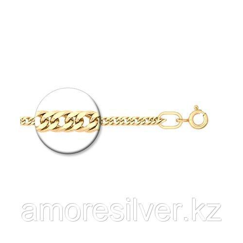 Цепь SOKOLOV серебро с позолотой, без вставок, панцирная 988320302 размеры - 40 45 50