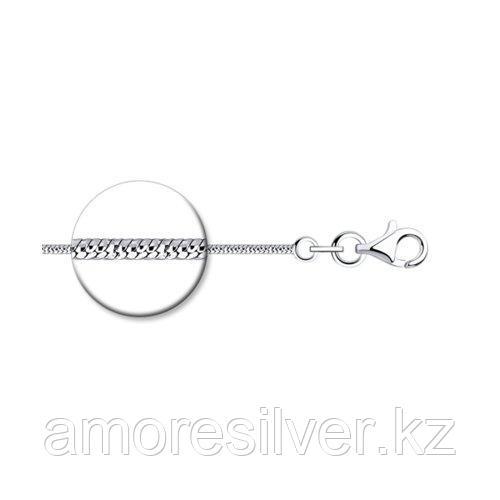 Цепь SOKOLOV серебро с родием, без вставок, фантазийные 94074584 размеры - 40