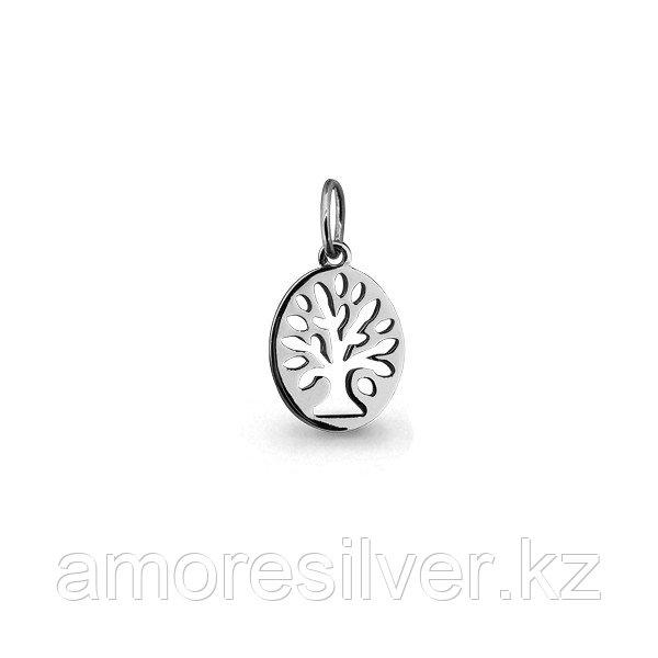 Подвеска AQUAMARINE серебро с родием, без вставок, флора 13454.5