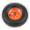Колесо пневматическое усиленное, шина 8PR, 4.00-8 D400 мм, внутренний диаметр подшипника 12 мм, длина оси 90