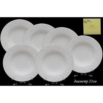 Набор «Сакура» из 6 глубоких тарелок, d=23 см, в подарочной упаковке