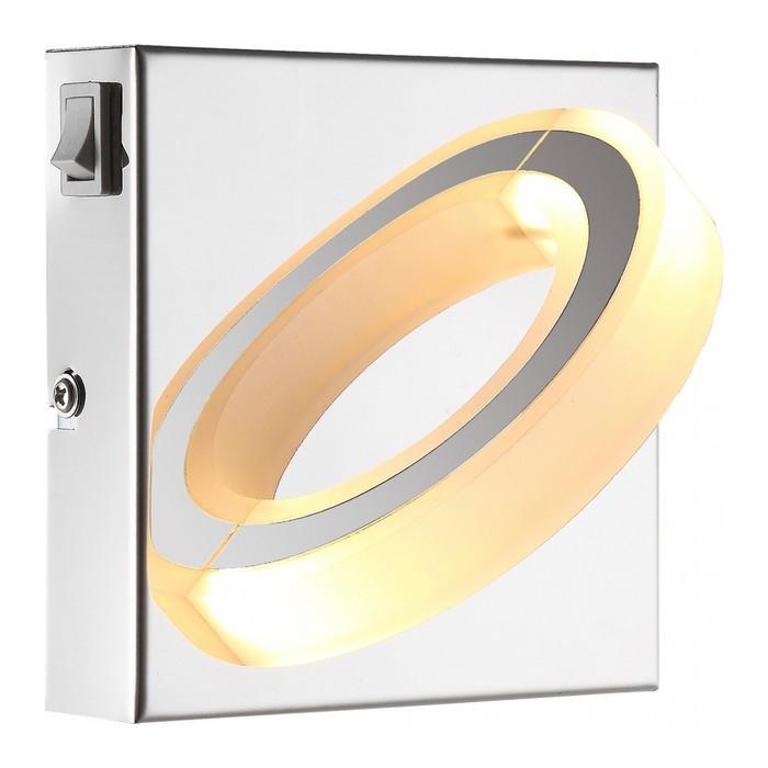Светильник MANGUE 1x5Вт LED хром 12,5x12,5x10см