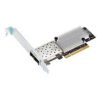Сетевая карта ASUS PEB-10G57840-2S, 2-портовый сетевой адаптер SFP+, 10 Гбитс, LC коннектор, PCI Express 3.0