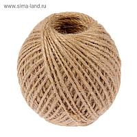 Шпагат джутовый, скрученный d=1,5 мм, 100 м «Шнурком», цвет натуральный