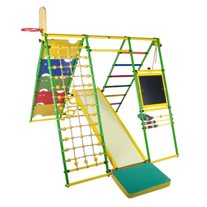 ДСК «Вершинка 2.0 W плюс», 1640 × 1480 × 1540 мм, цвет салатовый/радуга
