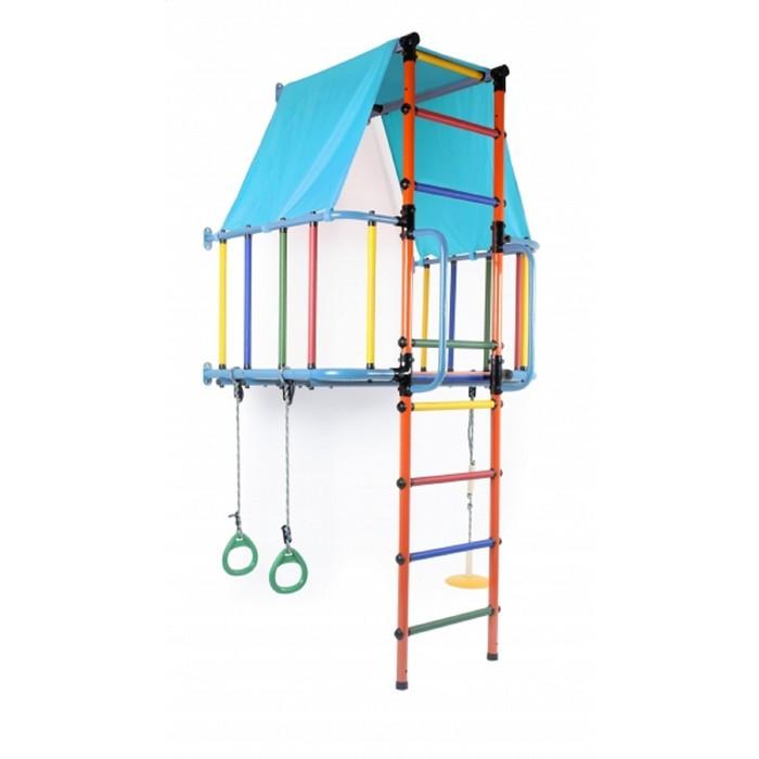 ДСК «Индиго L плюс» модульный, 930 × 1150 × 2260 мм, цвет голубой/оранжевый/радуга
