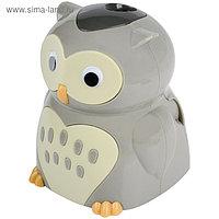 Точилка электрическая детская 1 отверстие, Berlingo Owl, с контейнером