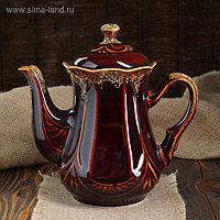 """Чайник для заварки """"Ажур"""" коричневый, 1,2 л"""