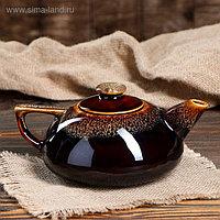 """Чайник для заварки """"Плоский"""", коричневый, 0.8 л"""