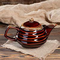 """Чайник для заварки """"Волна"""", коричневый 0.8 л"""