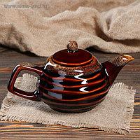 """Чайник для заварки """"Волна"""", коричневый, 0.5 л"""