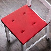Комплект подушек для стула «Билли», размер 37 х 42 х 3 см - 2 шт, красный