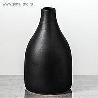 """Ваза настольная """"Анталия"""", матовая, чёрная, 22 см, керамика"""