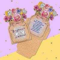 Открытка-конверт для денег формовой 'В чудесный День рождения!', 12,5 х 17,5 см (комплект из 10 шт.)