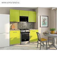 Кухонный Гарнитур София 1, 1500 мм, цвет Венге/Лайм