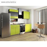 Кухонный Гарнитур София 3, 1600 мм, цвет Венге/Лайм