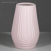 """Ваза настольная """"Геометрия"""", розовая, 20 см, керамика"""