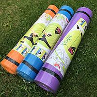 Коврик для йоги и фитнеса 3 мм гимнастический Размер 152.4 х 160.9 см