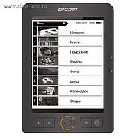 "Электронная книга Digma S683G, 6"", 1024x758, Touch Screen, 4 Гб, microSDHC, серая"