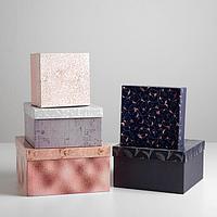 Набор подарочных коробок 5 в 1 «Паттерн», 22 х 22 х 12 14 х 14 х 8 см
