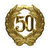 Знак Юбилей 50 золотой d40см 1шт/уп Kg