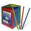 Трубочка мини d0,5x12,5см разноцветная 400шт/уп box Kg