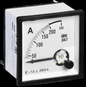 Амперметр Э47 200/5А кл. точн. 1,5 96х96мм