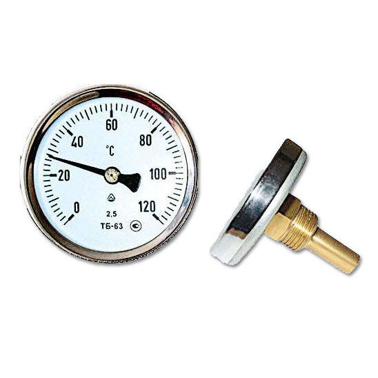 Биметаллический термометр осевой ТБ-63
