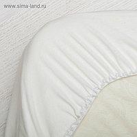 Простынь в овальную кроватку, размер 130 х 75 см, цвет молочный
