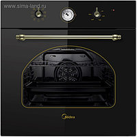 Духовой шкаф Midea MO 58100 RGB-B, электрический, 70 л, класс А, черный/бронза