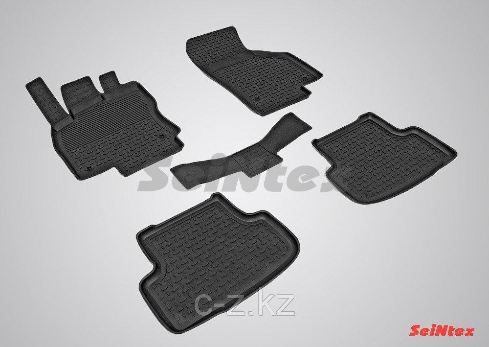 Резиновые коврики с высоким бортом для Skoda Octavia A7 2013-2020
