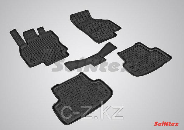 Резиновые коврики с высоким бортом для Skoda Octavia A8 2020-н.в., фото 2