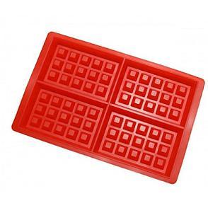 Силиконовая форма для выпечки вафель Прямоугольники, фото 2