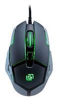 Мышка игровая Oklick 915G HELLWISH V2 черный/серебристый оптическая (2400dpi) USB игровая (6but)