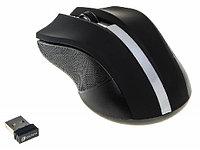 Мышка беспроводная Oklick 615MW черный/серебристый оптическая (1000dpi) беспроводная USB (2but)
